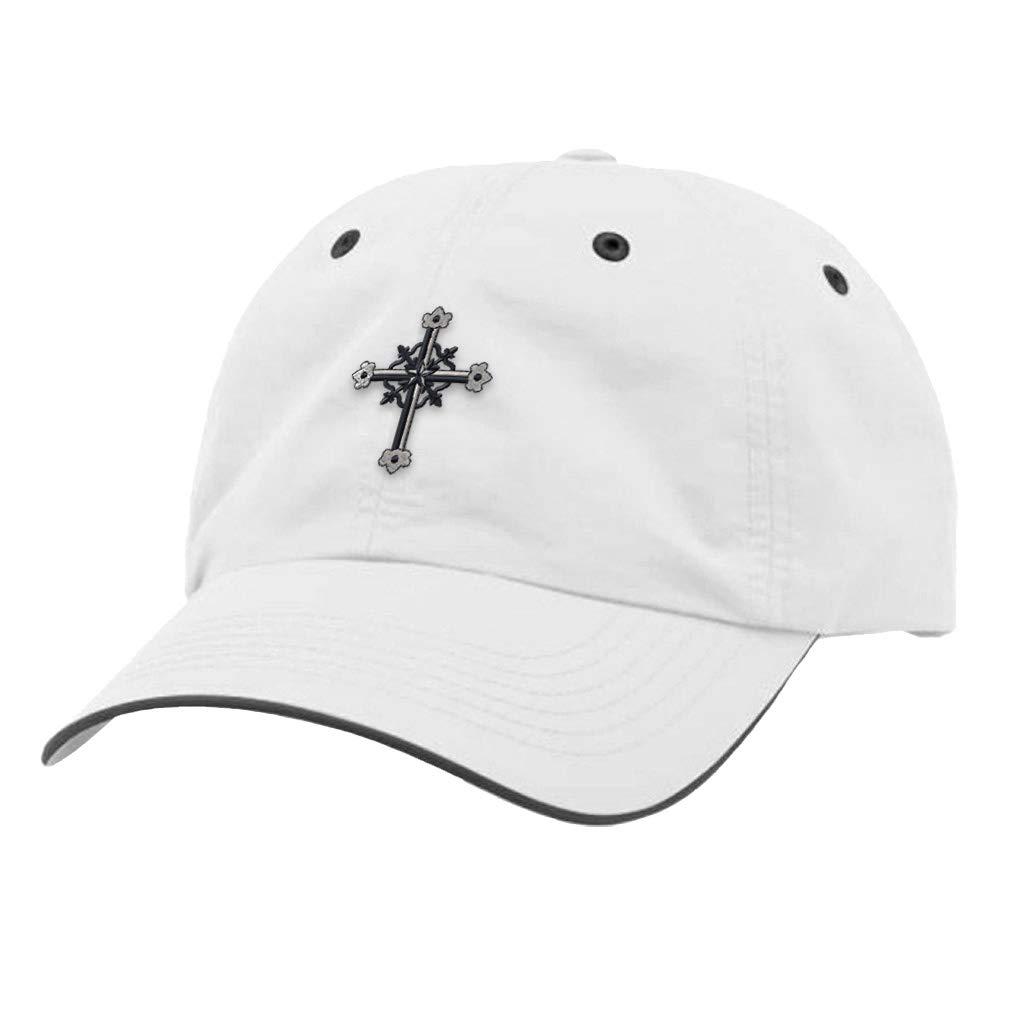 Custom Richardson Running Cap Metal Cross Embroidery Church Name Polyester Hat