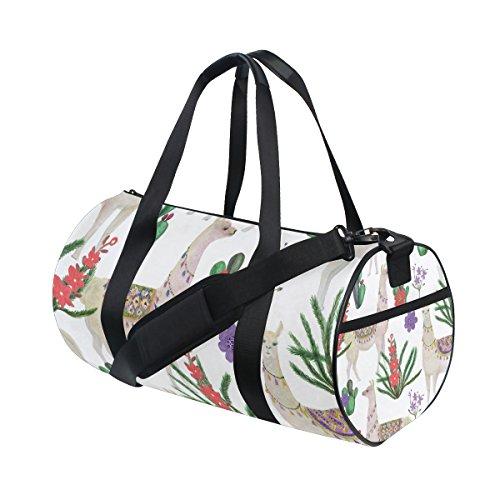 My Little Nest Sports Gym Bag Watercolor Llamas Lightweight Travel Duffel Bag for Women Men by My Little Nest