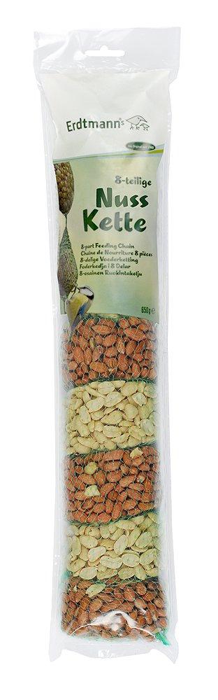 Erdtmanns Chaîne de Cacahuètes/Concassées pour Oiseaux 4 Sachets Cacahuètes Nut Chain