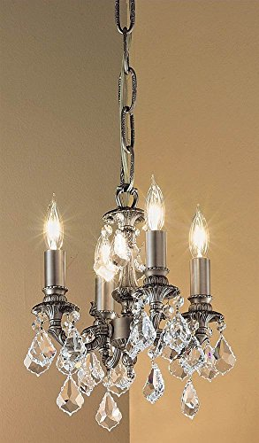 Majestic 4-Light Mini-Chandelier (Aged Bronze - Swarovski Spectra)
