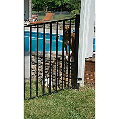 2 in. x 2 in. x 4-5/6 ft. Metropolitan Black Aluminum Fence End/Gate Post