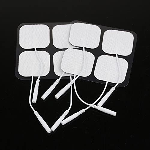 Elektrode Pads, SUNJULY 20 Stück Professionell Muskel Stimulator 40 x 40mm, Verbessert Selbstklebend, Hautfreundlich mit 2mm Stecker für Schmerztherapie und Muskelentspannung
