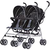 Dream On Me Twin Stroller, Dark Grey