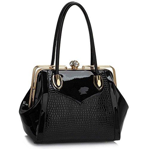 TrendStar - Bolso al hombro para mujer M B - Black