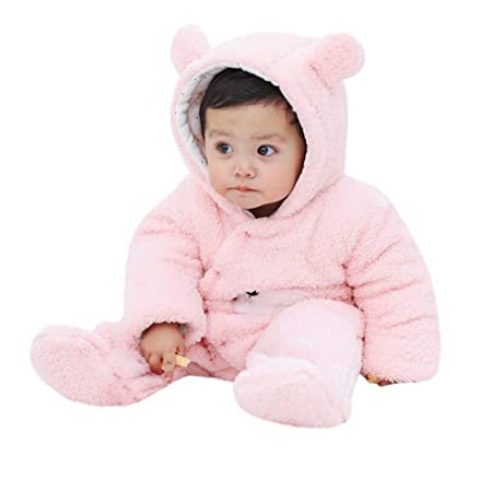 f9bca030f777d Qiusa Infant Baby Girls Boys Outfits,Cute Cartoon Hooded Flannel ...