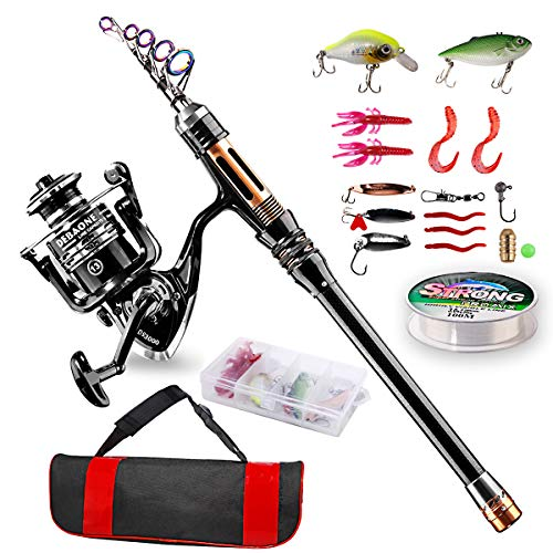 ShinePick Telescopic Fishing Rod Kit Spinning Rod
