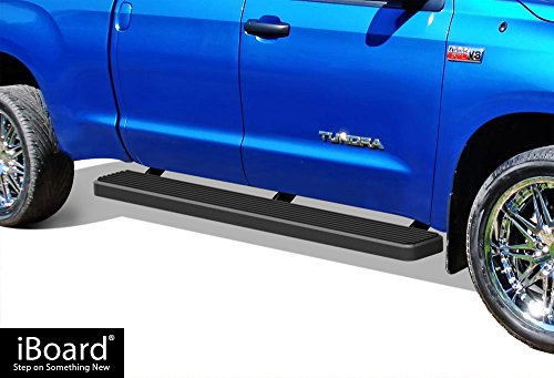- APS iBoard (Black Powder Coated 6 inches) Running Boards | Nerf Bars | Side Steps | Step Rails for 2007-2019 Toyota Tundra Double Cab Pickup 4-Door