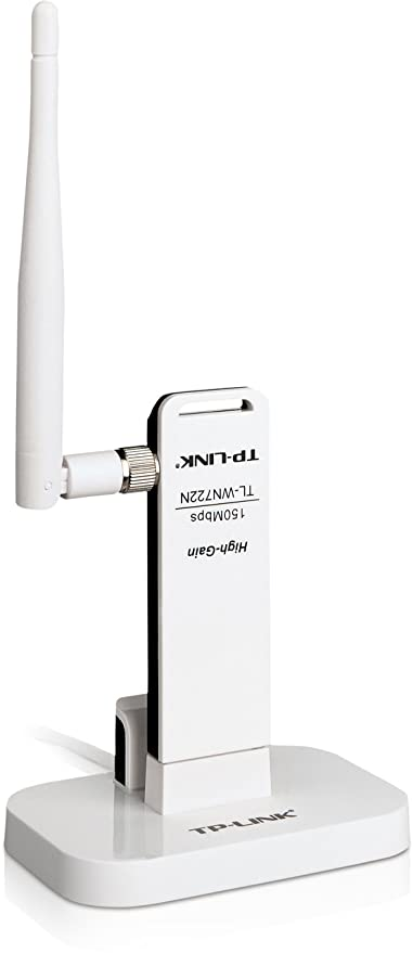 White TP-LINK TL-WN722NC 150 Mbps High Gain Wireless USB Adapter