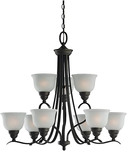 Sea Gull Lighting 31627-782 9 Light Wheaton Chandelier
