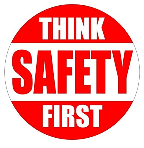 1 Set Credible Unique Think Safety First Window Stickers Sign Laptop Luggage Home Wall Room Graphics Rescue Safe Work Helmet Decor Vinyl Art Sticker Decal Patches Size 2