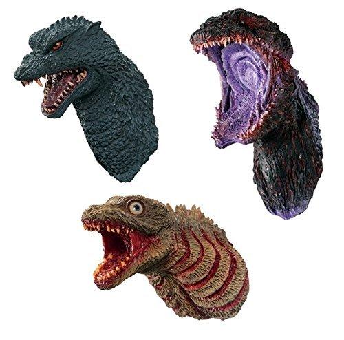 Ichiban Kuji GODZILLA monster planet GODZILLA Head Magnet 3 pack set JAPAN (Godzilla Magnet)