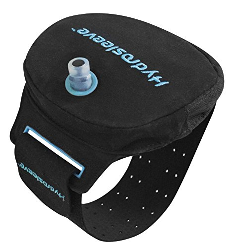 System Insulator Hydration (Hydrosleeve Package - Armband Hydration System for Runners and Athletes - Black/Blue (Small))