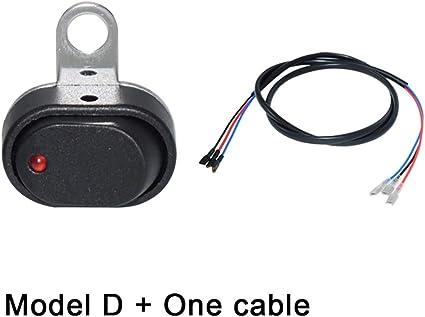 Motos Interruptores de la motocicleta Manillar Cuerno Señal de giro Faros antiniebla Luz Inicio eléctrico Controlador Manija Interruptor Cambiar (Color : WX-1048-D-Cable): Amazon.es: Coche y moto