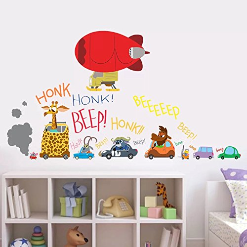 Decorstyle Giant Wall Decals for Kids Rooms, Nursery Peel & Stick, Large Removable Vinyl Wall Stickers. Premium, Eco-friendly, Bring Your Walls to Life! (Cars (Cars Giant Wall Sticker)