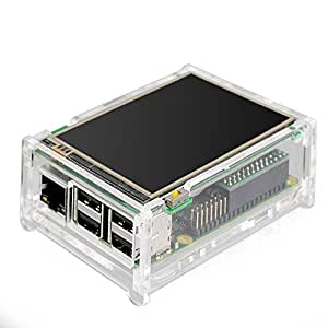 Tontec 3.5 Inches Touch Screen for Raspberry Pi Display TFT Monitor 480x320 LCD Touchscreen Kit with Transparent Case for Raspberry Pi 2 Model B and Raspberry Pi B+