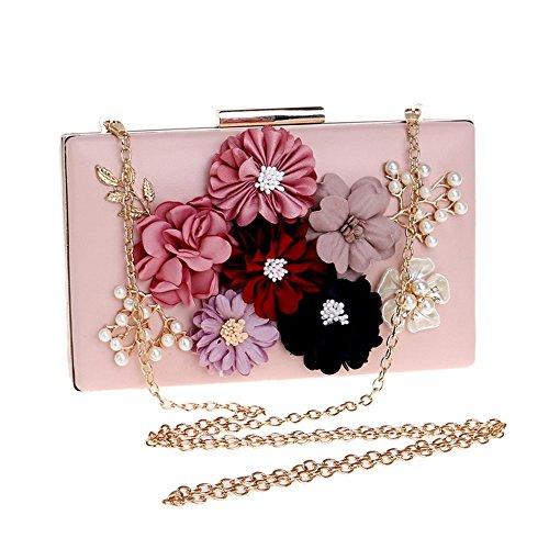 À Evening SoirÉE Pearl Fleur Rose Purse Sacs Main De Bag Embrayages Femmes Mariage Sacs Clutch gwwTdqxaz