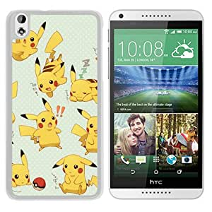 Popular Sell Pokemon Popular Cute and Funny Pikachu 10 White HTC Desire 816 Protective Phone Case