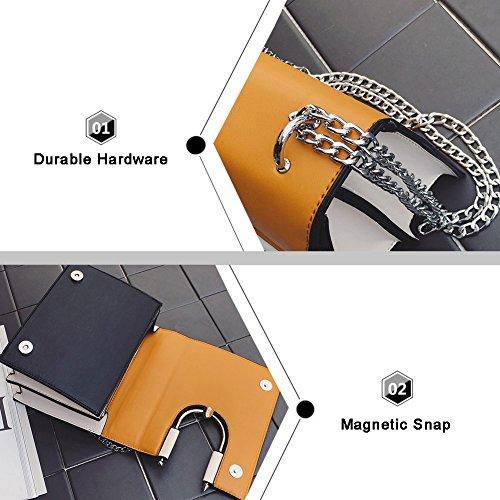 Borsa a catena elegante Yoome Borsa a tracolla a contrasto colore U-ring per ragazze Borse medie a croce per donne