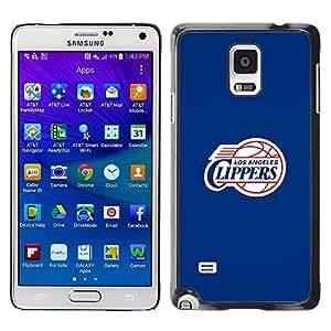 iKiki Tech / Estuche rígido - LA Clipper Baloncesto - Samsung Galaxy Note 4