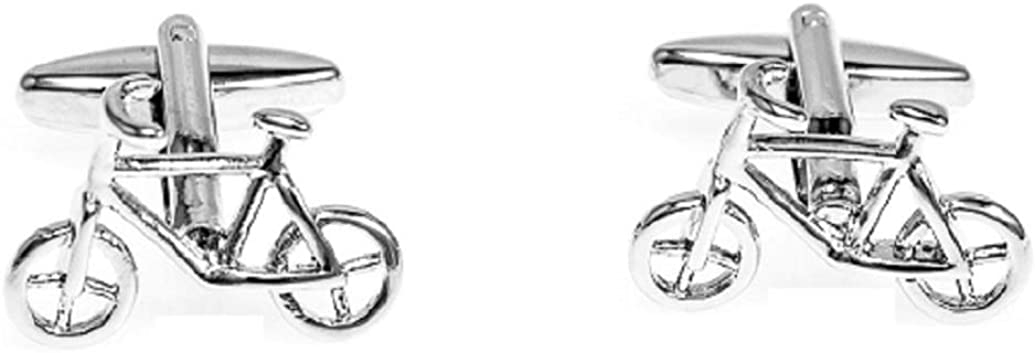 MRCUFF Bicycle Bike Cycling Cyclists Pair Cufflinks in a Presentation Gift Box & Polishing Cloth