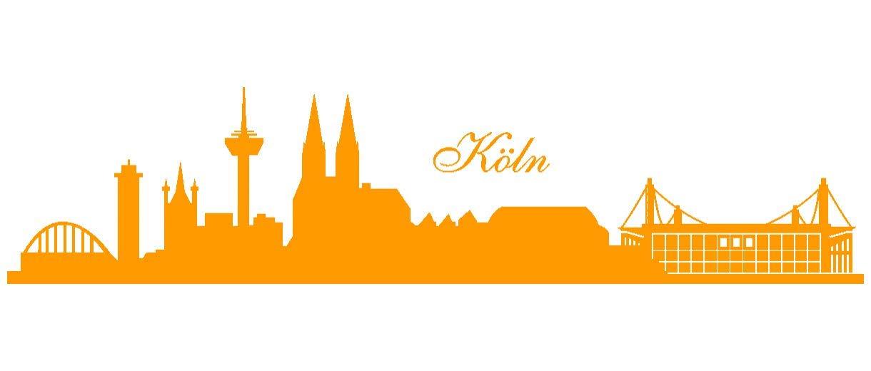 Samunshi® Wandtattoo Köln Skyline Stadion Stadion Stadion in 6 Größen und 19 Farben (230x52cm schwarz) B00B1D0O6A Wandtattoos & Wandbilder 0de6ad