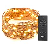 TaoTronics 33 ft 100 LED String Lights RF Remote Control, Super Soft Copper Wire Waterproof Outdoor Indoor Decorative Lights Bedroom, Patio, Garden, Gate, Yard More