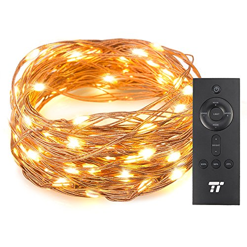 TaoTronics 33 ft 100 LED String Lights RF Remote Control, Super Soft Copper Wire Waterproof Outdoor Indoor Decorative Lights Bedroom, Patio, Garden, Gate, Yard More by TaoTronics