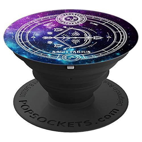 (Sagittarius Zodiac Sign Birthday Horoscope Space Galaxy Art - PopSockets Grip and Stand for Phones and Tablets)