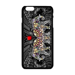 "Danny Store Hardshell Cell Phone Cover Case for New iPhone 6 Plus (5.5""), Elephants"