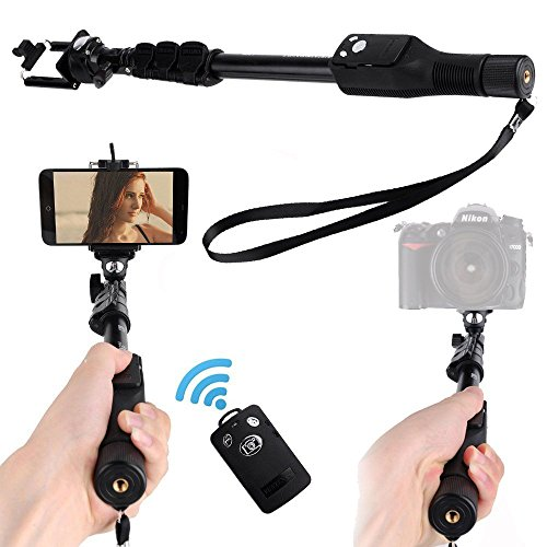 Unifree YT-1288 Bluetooth Selfie MonoPod Stick Stand Without Aux Cable for DSLR/SLR Action Camera, Smart Phones