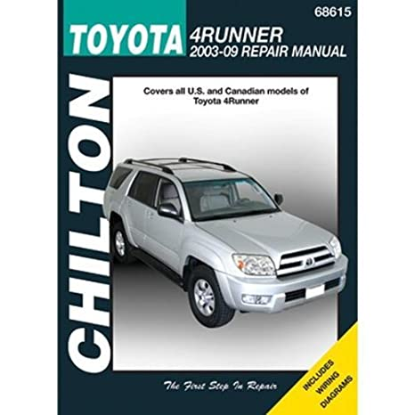 amazon com chilton toyota 4runner 2003 thru 2009 repair manual rh amazon com 1996 4Runner Service Manual 4Runner Manual Transmission