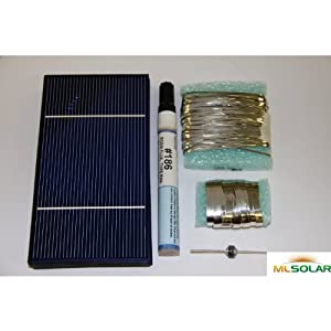 51nhxZXzeSL. SS300  - 40 Prime Solar Cell DIY Kit with Solar Tabbing, Bus, Flux and Diode