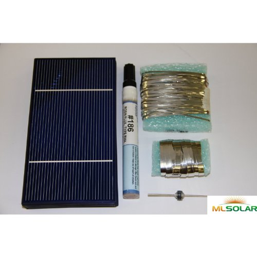 40 Prime Solar Cell DIY Kit with Solar Tabbing, Bus, Flux and Diode