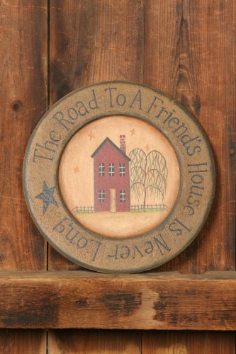 Your Heart's Delight Wood Home The Road to a Primitive Plate, 10-3/4-Inch by Your Heart's Delight (Image #1)