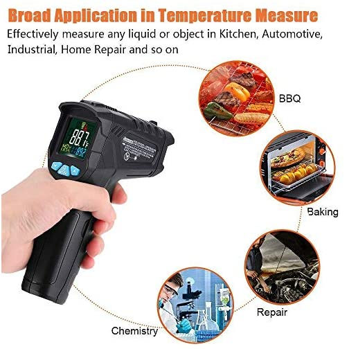 Infrared Thermometer (Not for Human) Non-Contact Digital Laser Temperature Gun 57°F ~1022°F (-50°C ~ 550°C) with Battery… |
