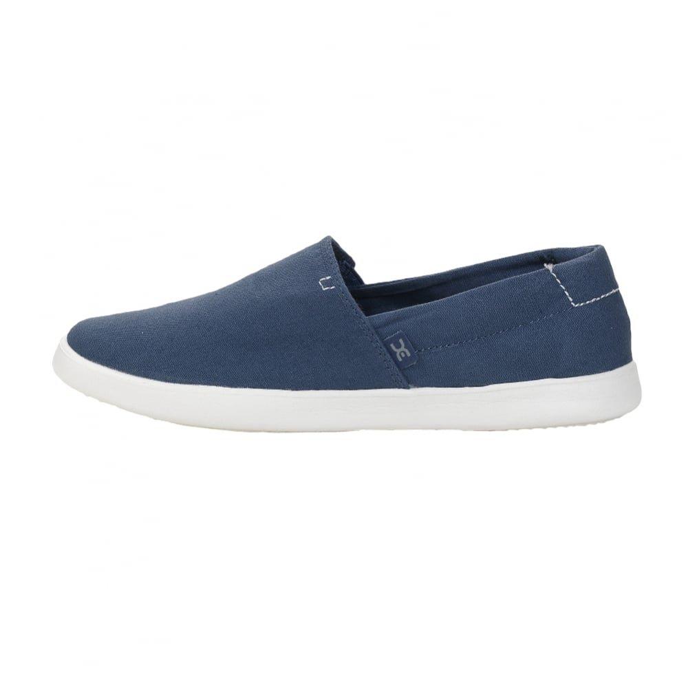 Hey Dude Womens Carly Steel Blue Flat Slip on Espadrille Shoe B07B9GZDJC UK 7 - EU 40 - US 9
