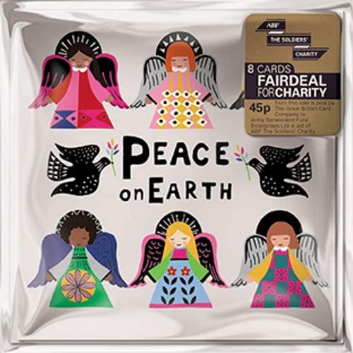 Pack of 8 Peace On Earth ABF The Soldiers Charity Christmas Cards Mini Packs: Amazon.es: Oficina y papelería