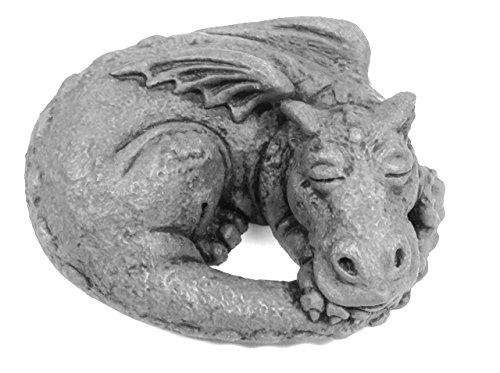 Little Darling Dragon Baby 'Snooze' – Solid Cast Stone Garden Statue – a Great Home or Garden Idea – Durable, Lifelike Sculpture – Fun Exterior and Interior Art