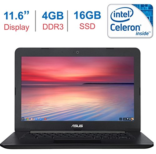 ASUS Chromebook C300 13.3 Inch (HD Backlit Display, Intel Celeron Processor, 4GB DDR3 RAM, 16GB SSD, Intel HD Graphics, Bluetooth, HDMI, HD Webcam, 802.11 ac WIFI, Google Chrome OS, ()