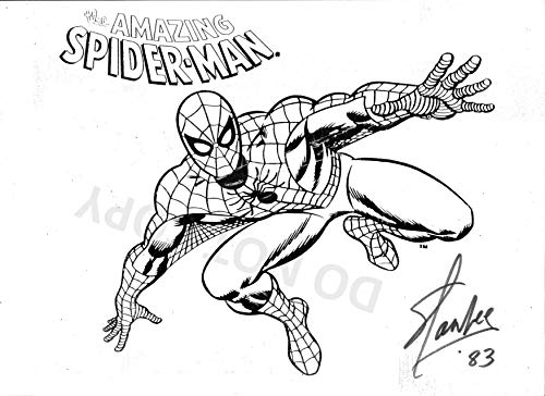 Stan Lee comic book creator reprint signed Spider-Man sketch 11x14 poster photo #4 RP from Loa_Autographs