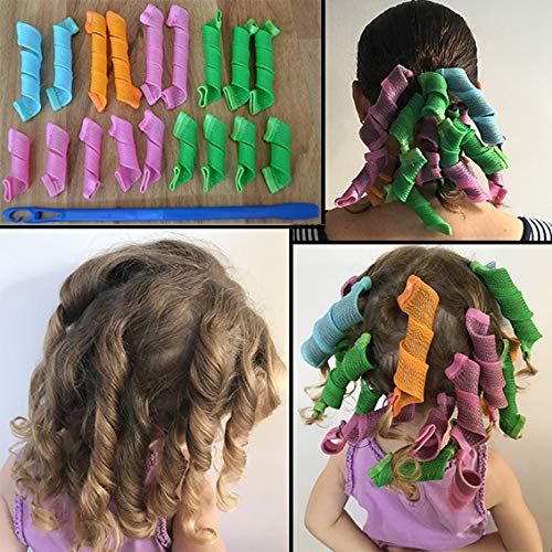 Ekan Roll Hair Tool Volume of Curly Hair Curly Tools In Multicolored for women, Hair Rollers, 25 Gram pack of 1 product image