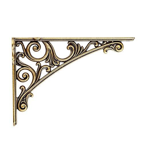 Gold Wall Bracket (Bosetti Marella Viola Decorative Shelf Bracket (7.75