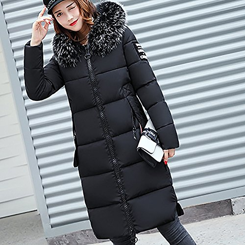 KIMODO Black Down Lammy Solid Coat Overcoat Women Thicker Winter Slim Jacket Casual Sweater 7Aw7r
