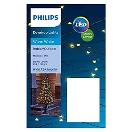 philips 90ct led shapable dewdrop lights warm white
