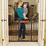 Baby : Regalo Home Accents Black 38 inches Extra-Tall Baby Gate with 2 Included Extension Kits by (Regalo)