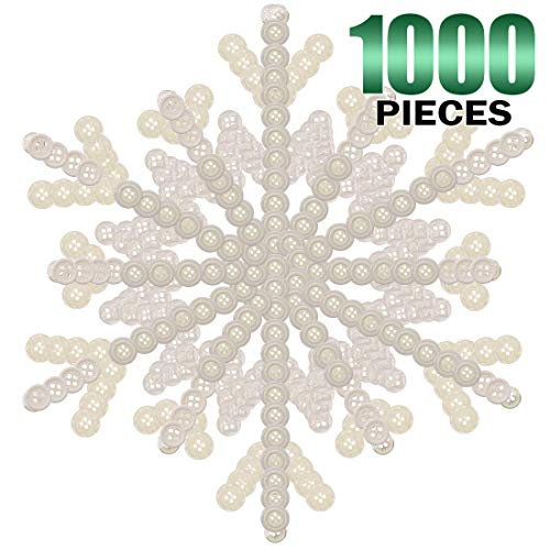 - Keadic 1000PCS Buttons Favorite Findings Basic Resin 2 and 4 Holes for DIY Crafts Sewing Christmas Party Decorations (White)