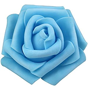 Lightingsky 3 x 1.6 x 3 inches DIY Real Touch 3D Artificial Foam Rose Head Without Stem for Wedding Party Home Decoration 85