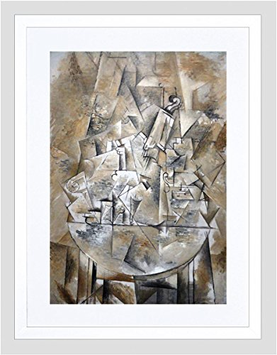 Wee Blue Coo Painting Braque Still Life The Pedestal Table Framed Art Print 12x16 F12X10813 -