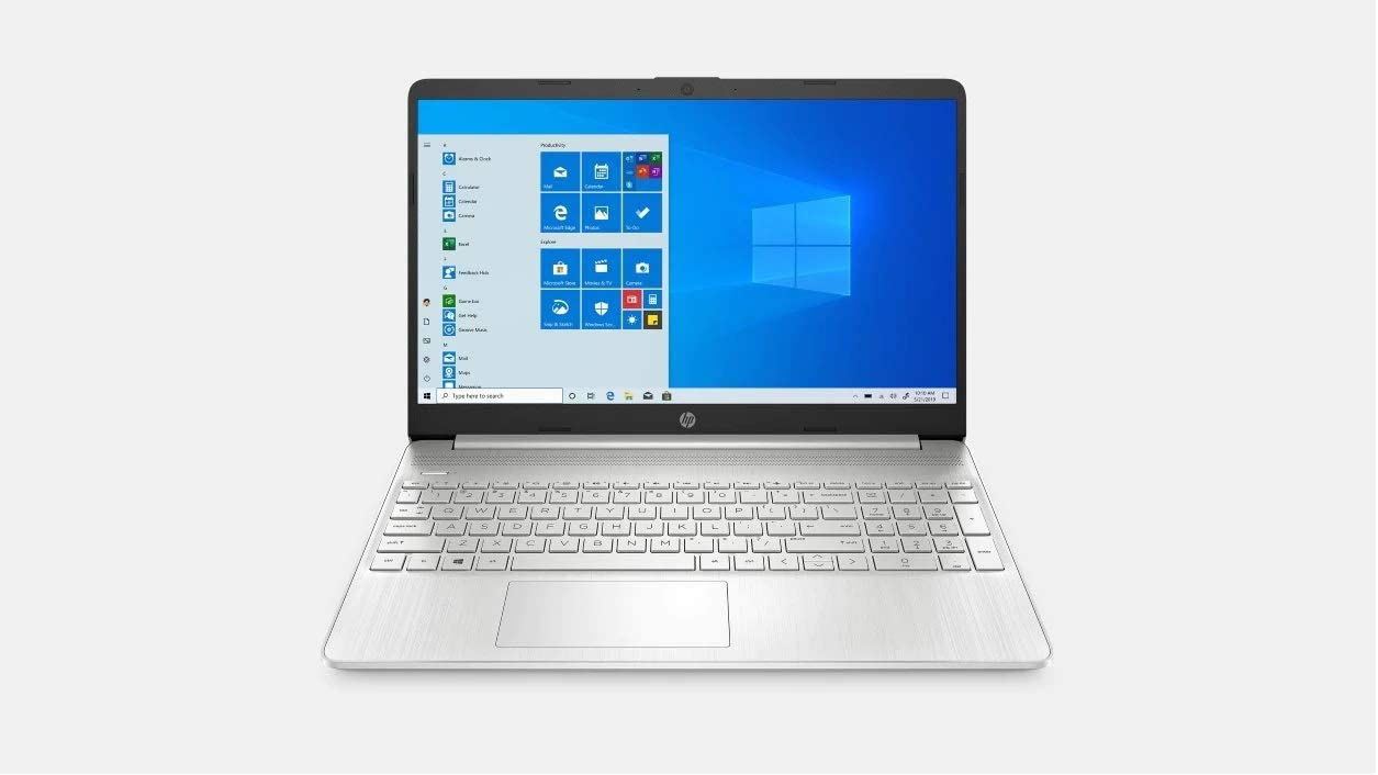 Latest Model HP 15.6-inch HD Touchscreen Notebook Computer (Intel 10th gen i3-1005G1, 8GB DDR4, 128GB SSD) Windows 10 Home, Natural Silver