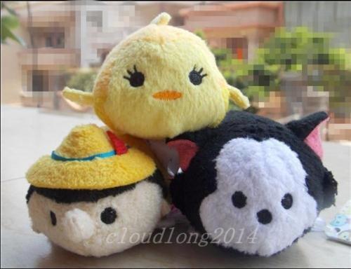 new mini Tsum Tsum PINOCCHIO Cleo Fish Figaro Cat 3.5